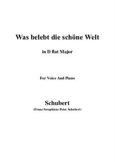Die Zauberharfe, D.644: Was belebt die schöne Welt (D flat Major) by Franz Schubert