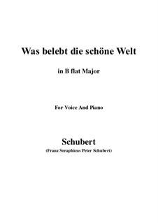 Die Zauberharfe, D.644: Was belebt die schöne Welt (B flat Major) by Franz Schubert