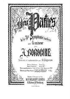 Sinfonie Nr.3 in a-Moll (Unvollendet): Vollpartitur by Alexander Porfiryevich Borodin
