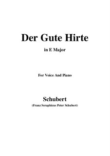 Der gute Hirt, D.449: E Major by Franz Schubert
