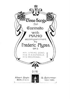 Drei Lieder für Stimme und Klavier, Op.2: Drei Lieder für Stimme und Klavier by Frederic Ayres