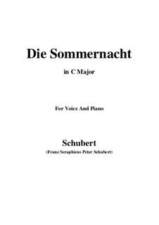 Die Sommernacht, D.289: C-Dur by Franz Schubert