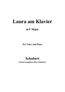 Laura am Klavier, D.388: First version (F Major) by Franz Schubert
