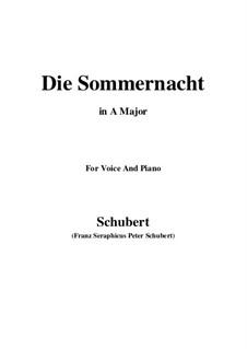 Die Sommernacht, D.289: A-Dur by Franz Schubert