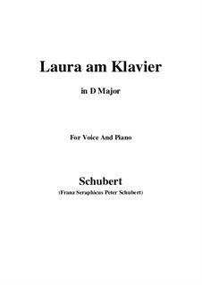 Laura am Klavier, D.388: First version (D Major) by Franz Schubert