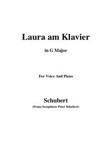 Laura am Klavier, D.388: First version (G Major) by Franz Schubert