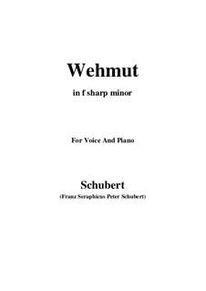 Wehmut, D.772 Op.22 No.2: F sharp minor by Franz Schubert