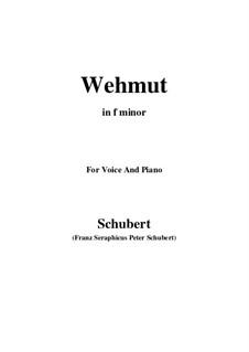 Wehmut, D.772 Op.22 No.2: F minor by Franz Schubert