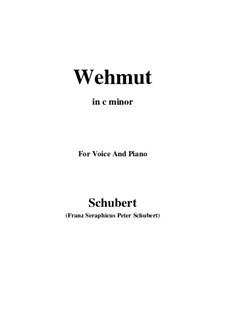 Wehmut, D.772 Op.22 No.2: C minor by Franz Schubert