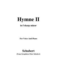 Hymne II für Stimme und Klavier, D.660: F sharp minor by Franz Schubert