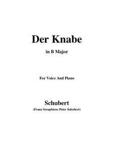 Der Knabe, D.692: B Major by Franz Schubert