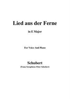 Lied aus der Ferne, D.107: E Major by Franz Schubert