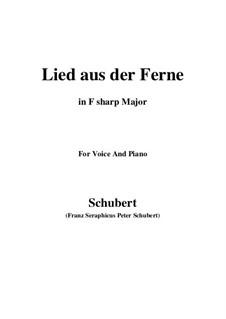 Lied aus der Ferne, D.107: F sharp Major by Franz Schubert
