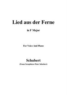 Lied aus der Ferne, D.107: F-Dur by Franz Schubert