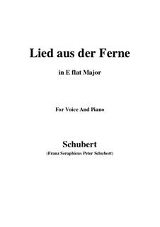 Lied aus der Ferne, D.107: E flat Major by Franz Schubert