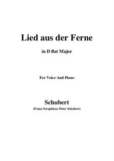 Lied aus der Ferne, D.107: D flat Major by Franz Schubert