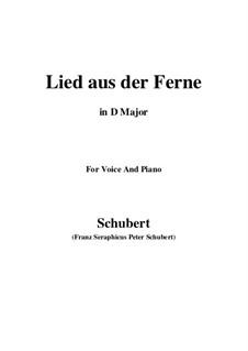 Lied aus der Ferne, D.107: D Major by Franz Schubert