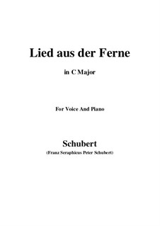 Lied aus der Ferne, D.107: C-Dur by Franz Schubert