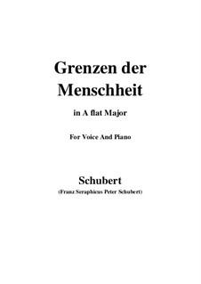 Grenzen der Menschheit, D.716: Für Stimme und Klavier (E Flat Major) by Franz Schubert