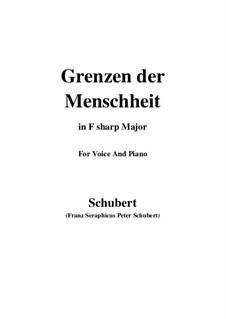 Grenzen der Menschheit, D.716: Für Stimme und Klavier (G Major) by Franz Schubert