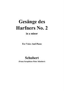 Nr.2 Wer nie sein Brot mit Tränen ass: A minor by Franz Schubert