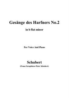 Nr.2 Wer nie sein Brot mit Tränen ass: B flat minor by Franz Schubert