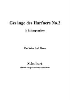 Nr.2 Wer nie sein Brot mit Tränen ass: F sharp minor by Franz Schubert