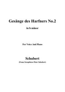 Nr.2 Wer nie sein Brot mit Tränen ass: B minor by Franz Schubert