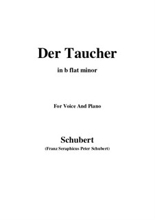 Der Taucher, D.77: B flat minor by Franz Schubert