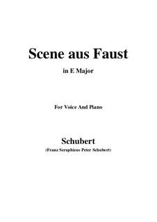 Szene aus 'Faust', D.126: E Major by Franz Schubert