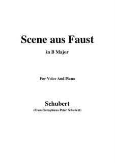 Szene aus 'Faust', D.126: B Major by Franz Schubert