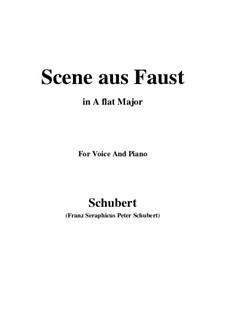 Szene aus 'Faust', D.126: A flat Major by Franz Schubert