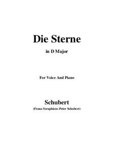 Die Sterne, D.939 Op.96 No.1: Für Stimme und Klavier (D Major) by Franz Schubert