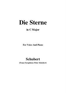 Die Sterne, D.939 Op.96 No.1: Für Stimme und Klavier (C Major) by Franz Schubert