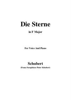 Die Sterne, D.939 Op.96 No.1: Für Stimme und Klavier (F-Dur) by Franz Schubert