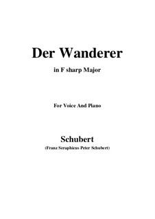 Der Wanderer, D.649 Op.65 No.2: F sharp Major by Franz Schubert