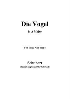 Die Vögel, D.691: A-Dur by Franz Schubert