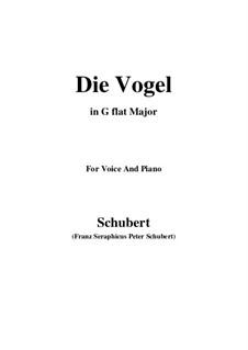 Die Vögel, D.691: G flat Major by Franz Schubert