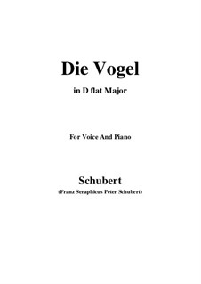 Die Vögel, D.691: D flat Major by Franz Schubert
