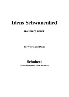 Idens Schwanenlied, D.317: C sharp minor by Franz Schubert
