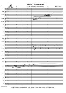 Violin Concerto (In Pursuit of Innocence), Op.2: Violin Concerto (In Pursuit of Innocence) by Keith Perreur-Lloyd