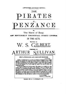 Vollständiger Oper: Klavierauszug mit Singstimmen by Arthur Sullivan