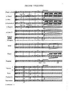 Undine, TH 2: Undina's Song by Pjotr Tschaikowski