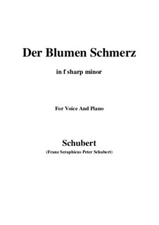 Der Blumen Schmerz, D.731 Op.173 No.4: F sharp minor by Franz Schubert