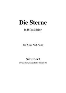 Die Sterne, D.313: B flat Major by Franz Schubert