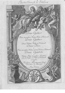 Trios, Quartette, Quintette für Flöte, Streicher und Holzbläser: Stimmen by Friedrich Hartmann Graf