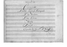 Konzert für Flöte und Orchester in D-Dur: Stimmen by Friedrich Hartmann Graf