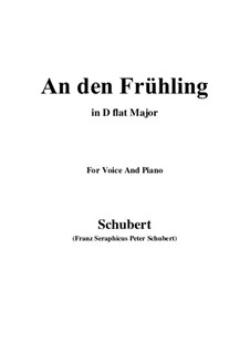 An den Frühling, D.587: D flat Major by Franz Schubert
