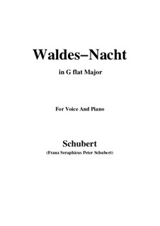 Im Walde, D.708: For voice and piano (G flat Major) by Franz Schubert