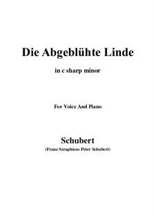 Die abgeblühte Linde, D.514 Op.7 No.1: C sharp minor by Franz Schubert